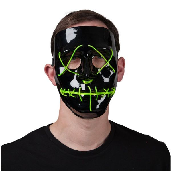 E.L Light Up Mask - GREEN
